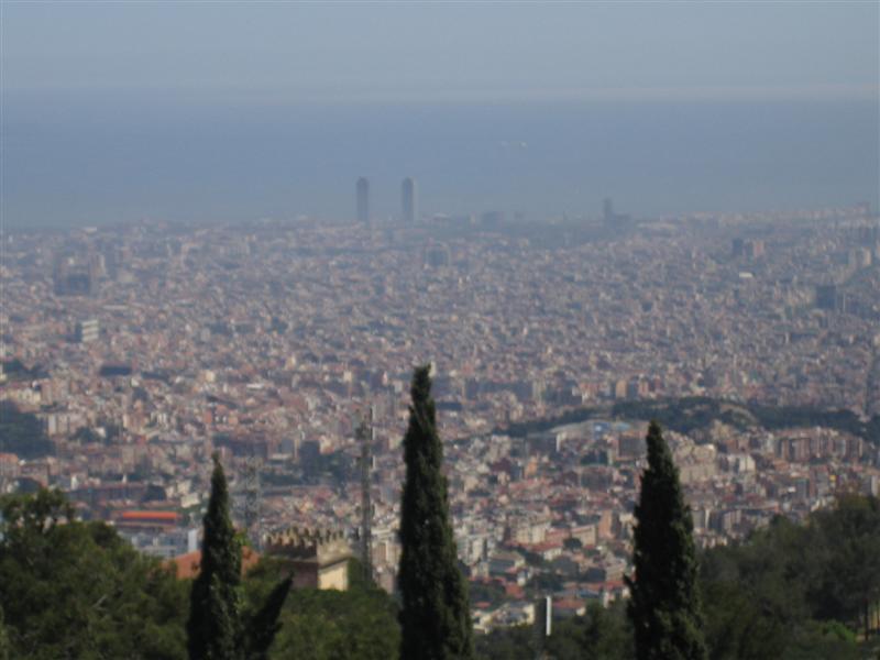 otra vista desde el tibidabo menú fotos barcelona menú galerías