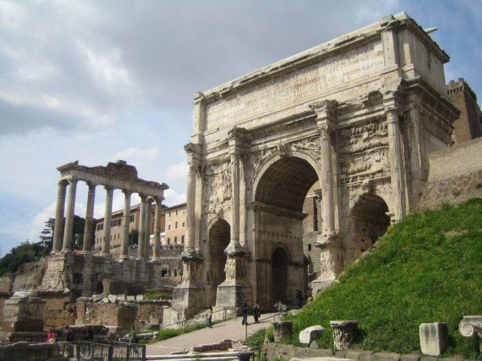 Foro romano - Arco di Settimio Severo y Templo di Saturno